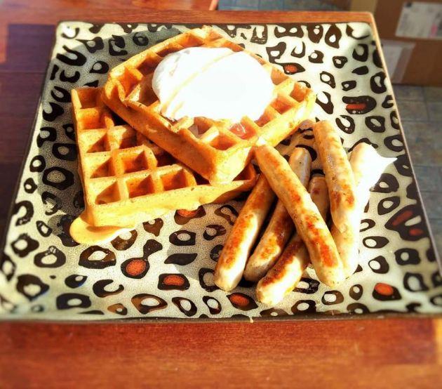 Pumpkin Waffles- one serving is per one waffle