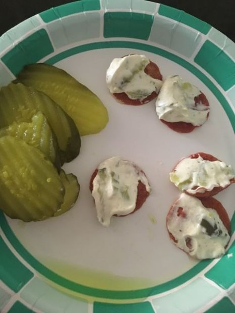 Quick keto chips and dip