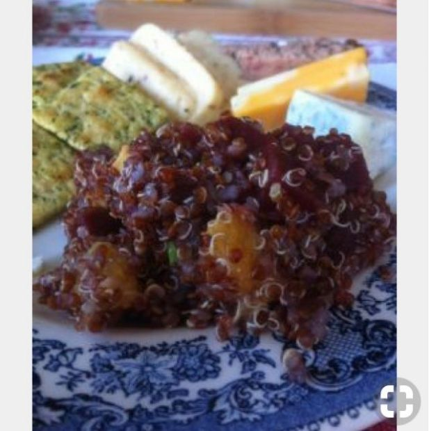 Quinoa Beet Mango Salad