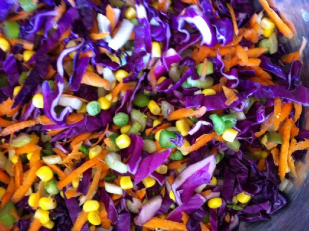 Red Cabbage Confetti Salad