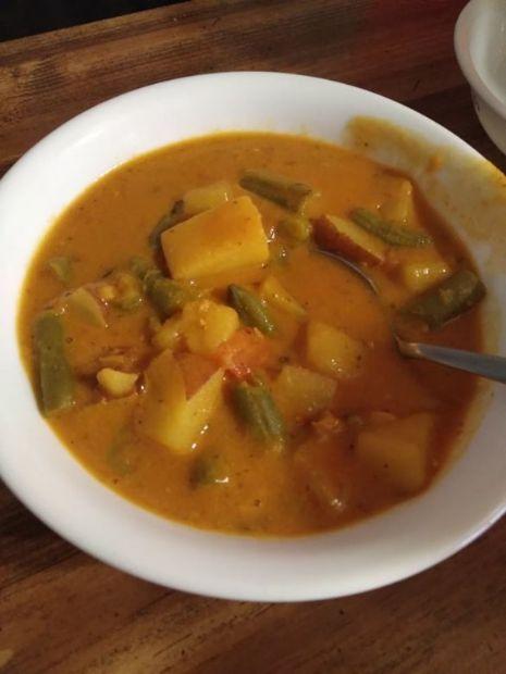 Red Lentil Dahl Potato soup