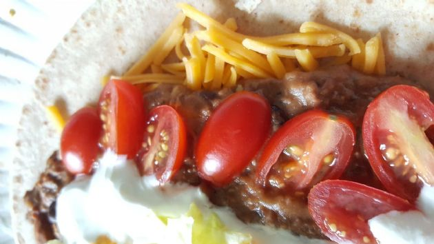 Refried beans w beef
