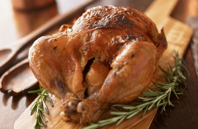 Roasted Chicken with Herb Oil
