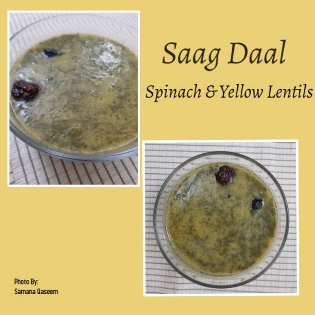 Saag Daal (Spinach & Yellow Lentils)