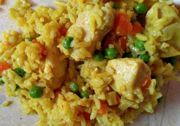 Saffron Rice Curry Chicken