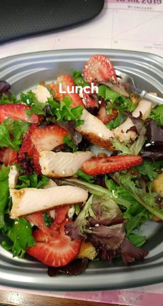Salad - Turkey/Spring Mix/Strawberry/Walnut/Feta