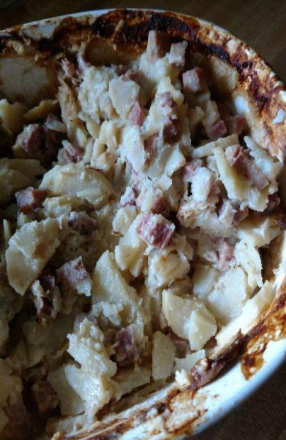 Scalloped potatoes and ham, betty crocker
