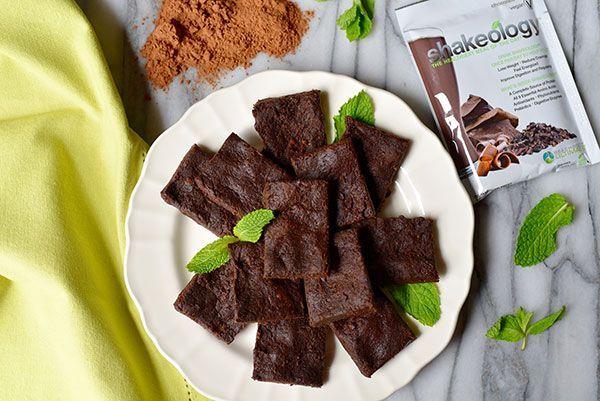 Shakeology Double Chocolate No-Bake Vegan Brownie balls