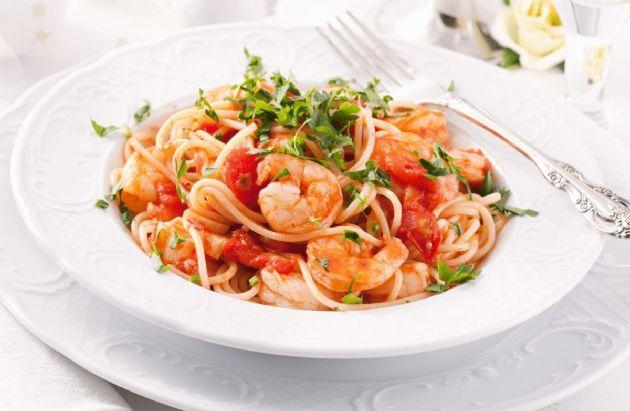 Shrimp & Sundried Tomato Pasta