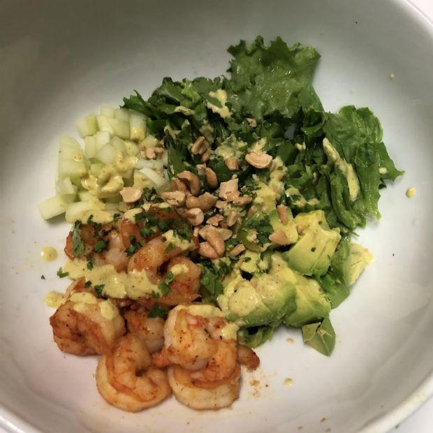 Shrimp and Avocado Salad with Curry Dressing