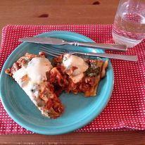 Skillet Spinach & Zuchini Lasagna