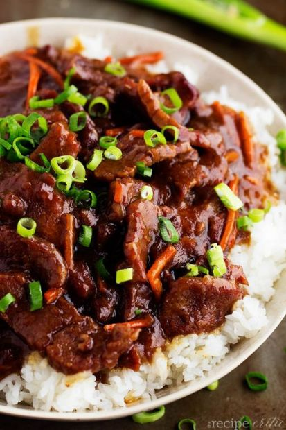 Slow Cooker Mongolian Beef (adapted from The Recipe Critic)
