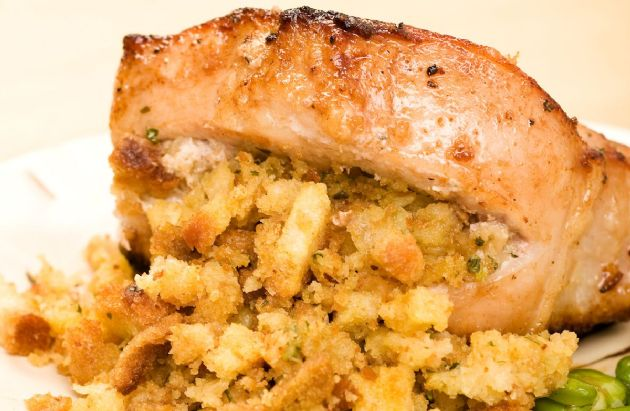 Slow Cooker Pork Chops with Fruity Stuffing