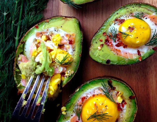 Smoked Salmon Egg Stuffed Avocado