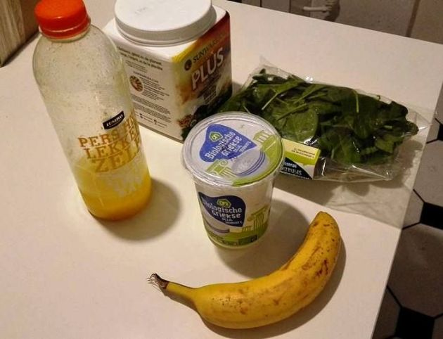 Smoothie with Banana & Spinach