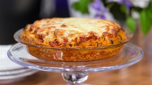 400 Calorie Dinner - Spaghetti Pie