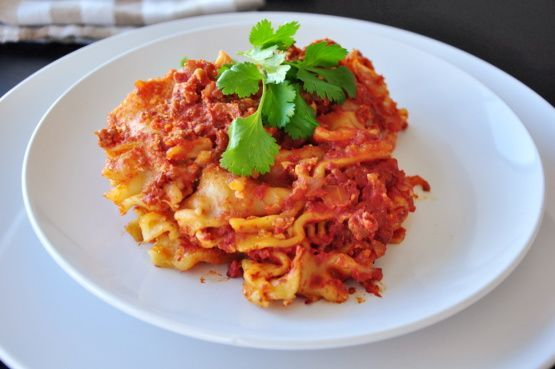 Spaghetti Squash Mock Lasagna
