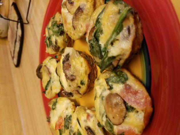 Spinach Mushroom Egg Mini Quiche