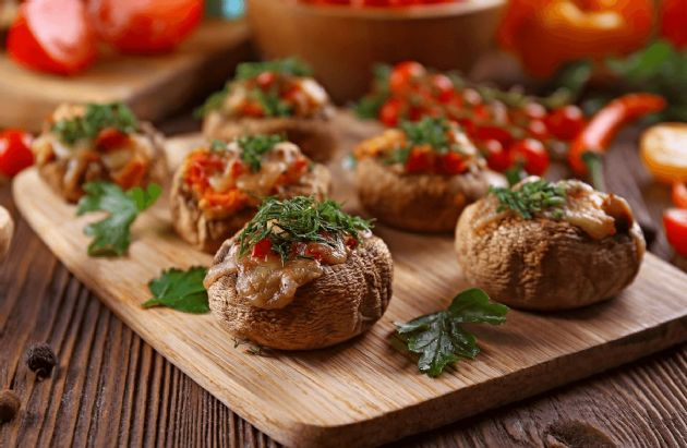 Stuffed Portobello Mushrooms on the Grill