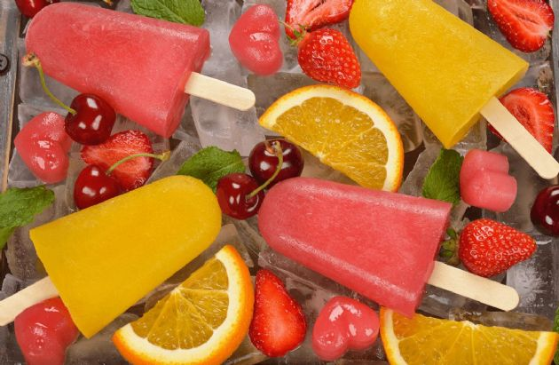 Summer Frozen Fruit Pops