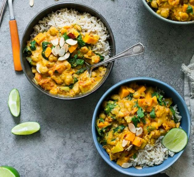 Sweet Potato, Chickpea, & Spinach Coconut Curry