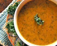 Sweet Potato and Kale Soup, Vegan
