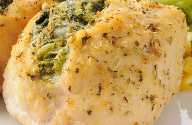 Swiss and Spinach Stuffed Chicken Breast