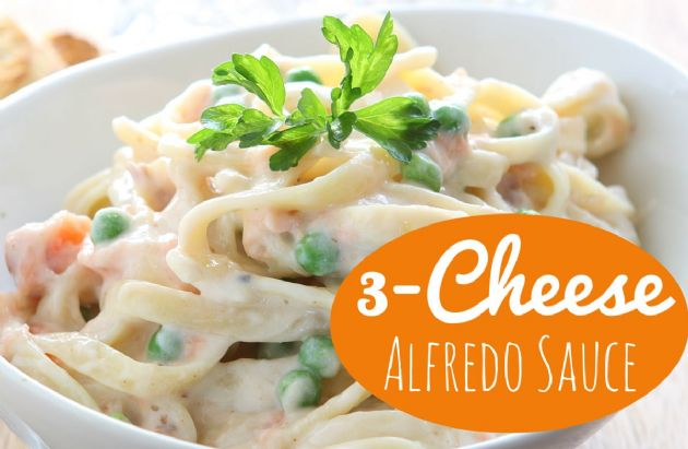 Three-Cheese Alfredo Sauce