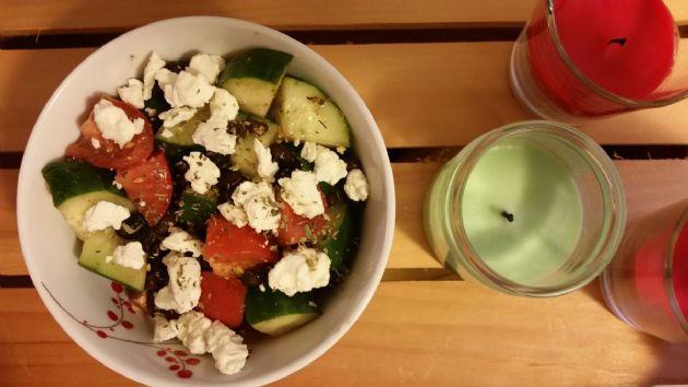 Tomato, Cucumber, and Black Bean Salad