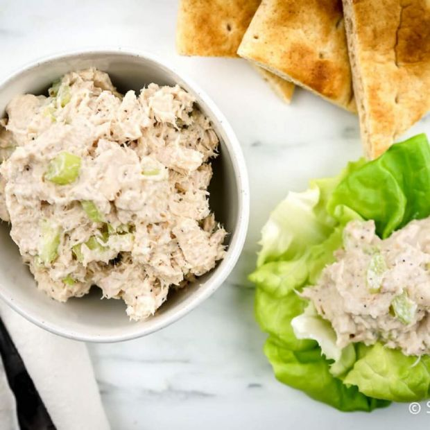 Lunch - Tuna Salad Sandwich with Green Beans