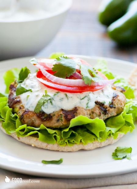 Turkey Burger with Cilantro Aioli