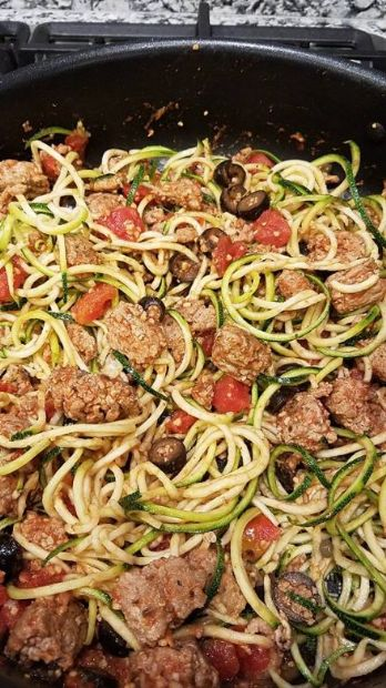 Turkey Puttanesca with Zoodles