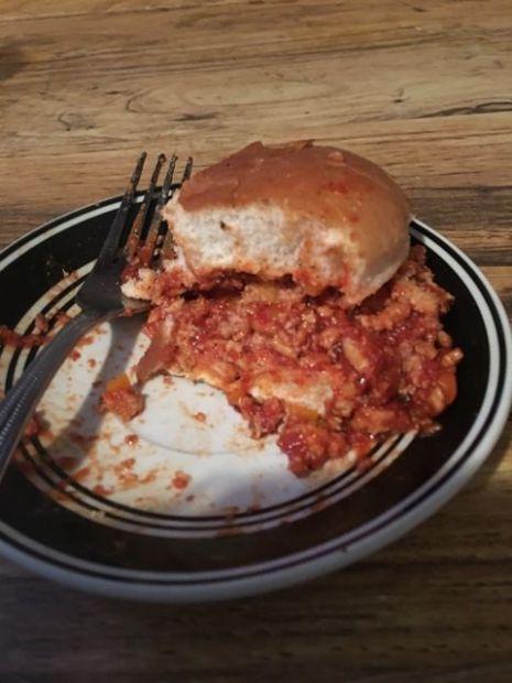 Turkey Sloppy Joes with Crushed Wheat Bun