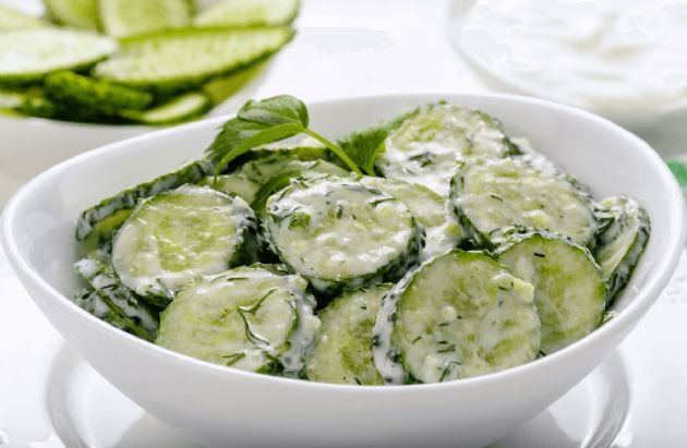 Fresh Tzatziki Cucumber Dill Sauce/Salad