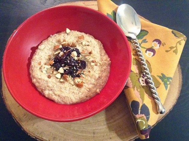 Vegan Breakfast Recipes: Cherry Almond Quinoa Porridge