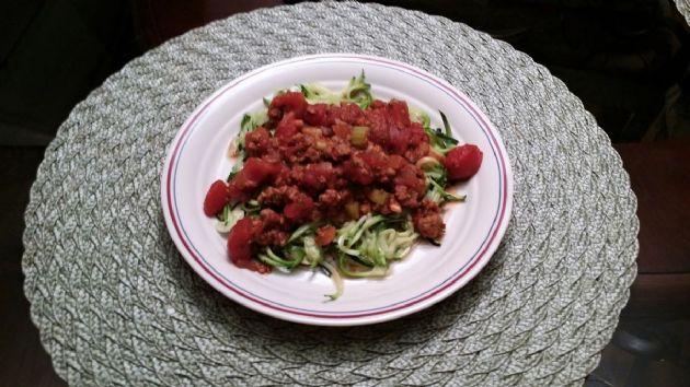 Vegan Spaghetti Sauce with Zucchini Noodles
