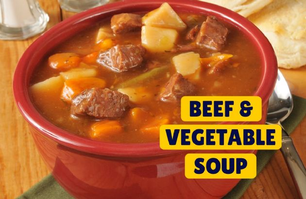 Vegetable Soup with Beef  RECIPE