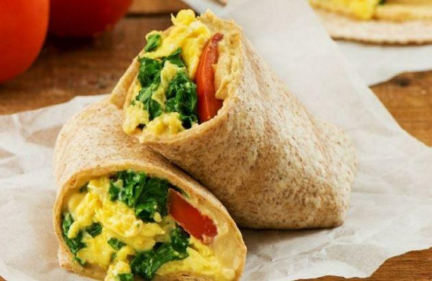 Veggie packed breakfast burrito