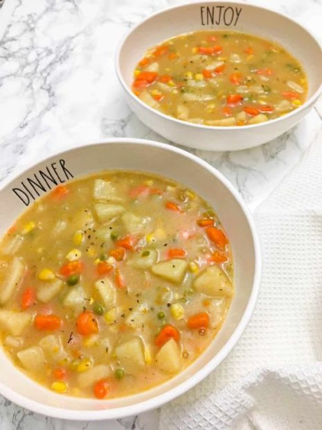 WFPB Creamy Vegetable Soup