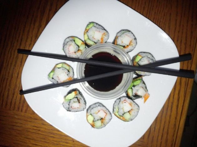 Waist Friendly Crab Sushi Roll