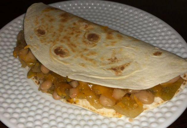 White Bean and Chile Quesadilla