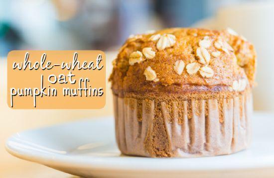 Whole Wheat Oat Pumpkin Muffins