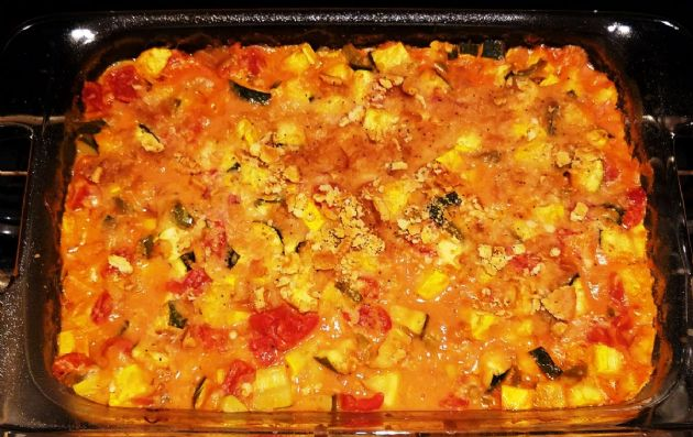 Zucchini and Yellow Squash Casserole