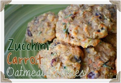 Zucchini-carrot oatmeal cookies
