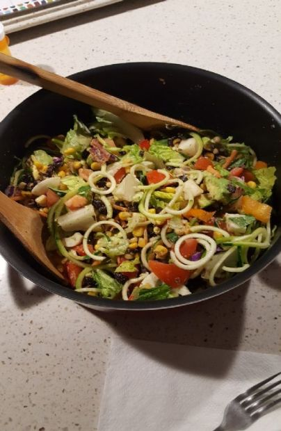 BLT Salad w/Black Beans & Corn