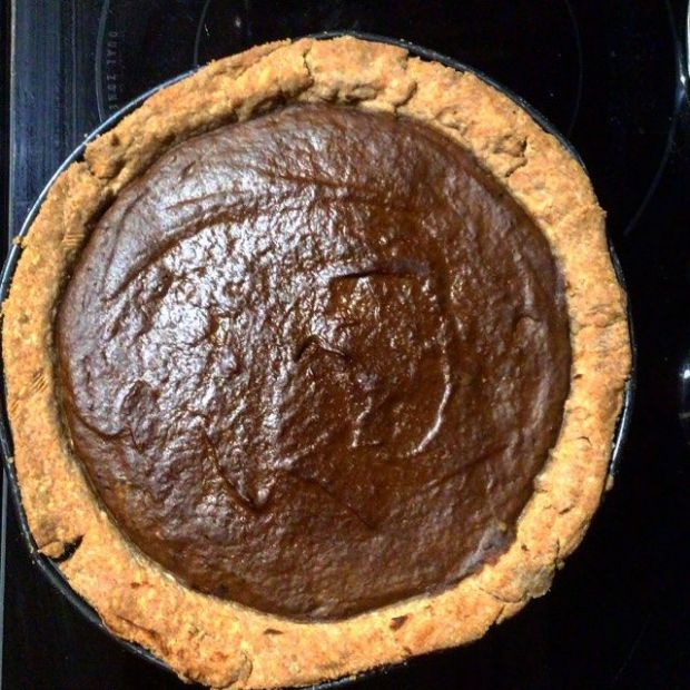 Chocolate Pumpkin Quiche with Whole Wheat and Quinoa Crust