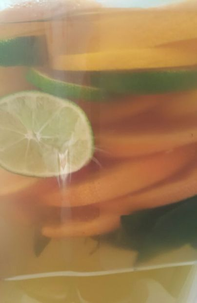 Citrus and mint infused green tea