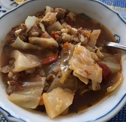 turkey and rice cabbage soup