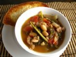 Sausage, squash and bean soup