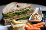 vegan turkey & mayo sandwich